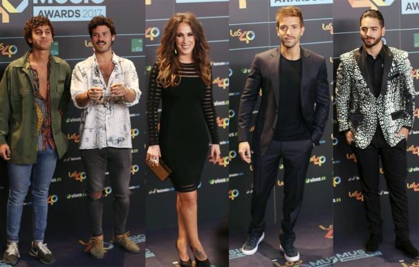 Malú, Manuel Carrasco, Maluma, Taburete... y más en Los40 Music Awards