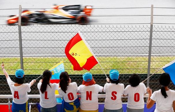 Fernando Alonso en los entrenamientos de Malasia
