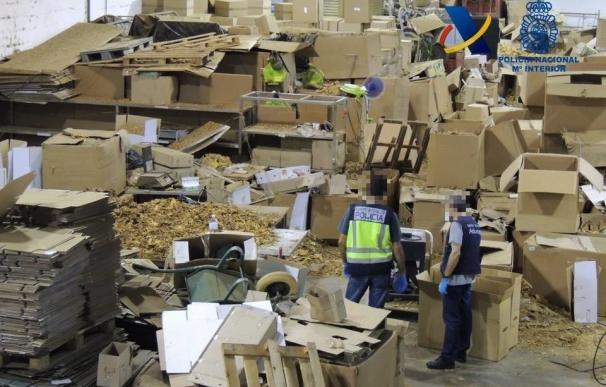 Ocho detenidos e intervenidas 52 toneladas de picadura de tabaco de contrabando en Alcalá