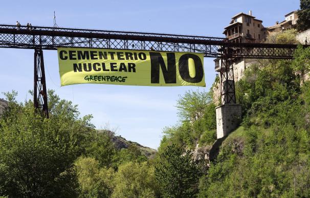 Protestas en Cuenca en contra del almacén nuclear.