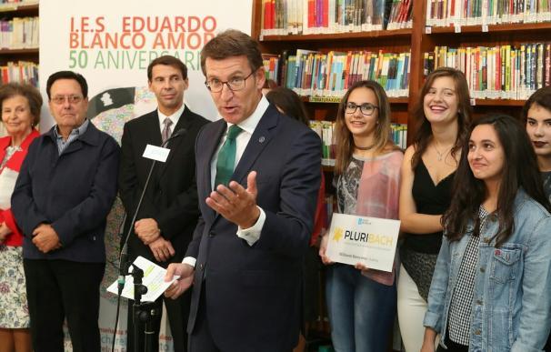 """Núñez Feijóo apuesta por un sistema educativo que """"anticipe las necesidades"""" de la Galicia del futuro"""