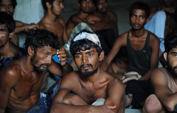 Un grupo de inmigrantes rohingya