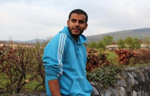 Fotografía del preso político irlandés de origen egipcio, Ibrahim Halawa
