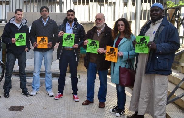 Fede García, en el centro de la foto (con barba y gafas) es el portavoz del partido 'Ongi Etorri', el menos votado de las elecciones generales