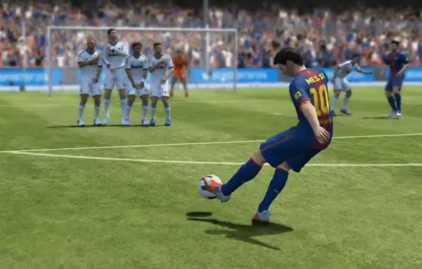 Messi y su gol de falta al Madrid en la vuelta de la Supercopa, protagonistas del anuncio del FIFA 13