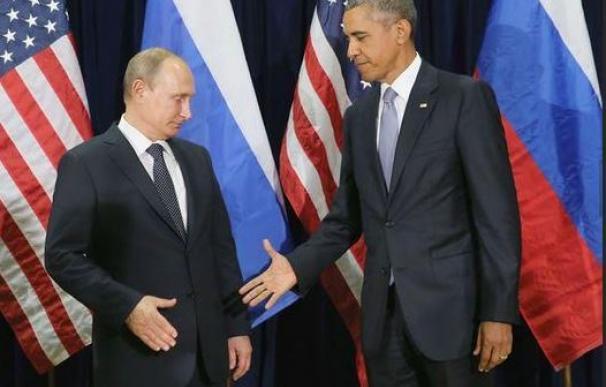 Obama y Putin durante la primera jornada de la Asamble de la ONU/AFP