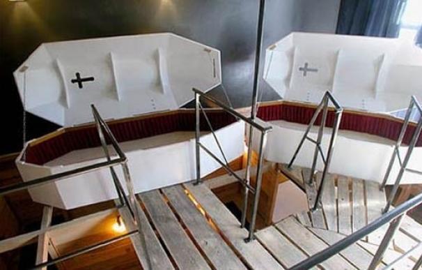 Un hotel de Berlín ofrece dormir en un ataúd