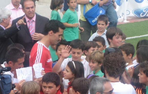 Álvaro Arbeloa, en el campus que lleva su nombre