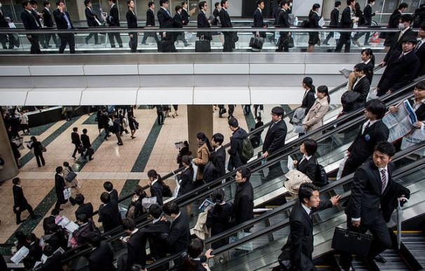Trabajadores en Japón