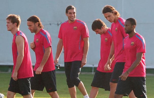Ibrahimovic vuelve a entrenarse con el Barcelona