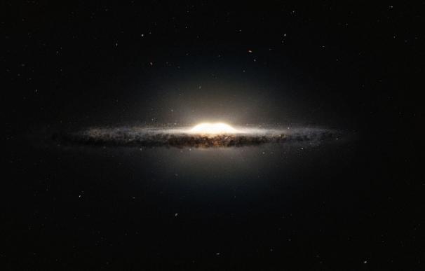 Impresión artística del bulbo central de la Vía Láctea