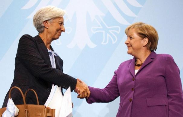 Merkel y Lagarde recalcan su voluntad de estabilizar a los países y a los bancos de la eurozona