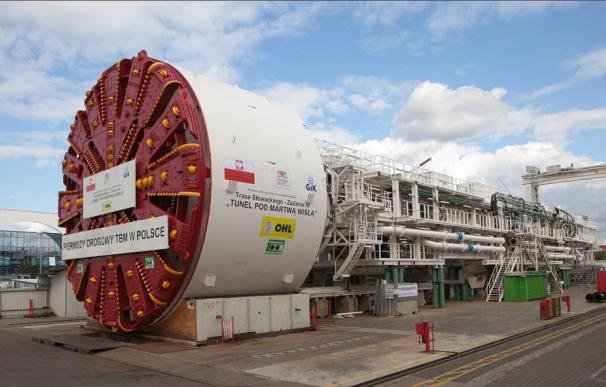 Imagen de la tuneladora de OHL en Polonia.