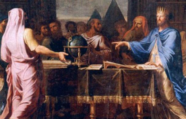 El rey Ptolomeo II y los 70 judíos que escribieron la Biblia.