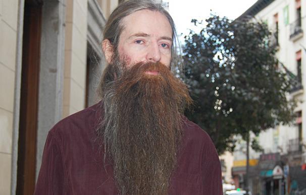Aubrey de Grey durante al entrevista, en Madrid