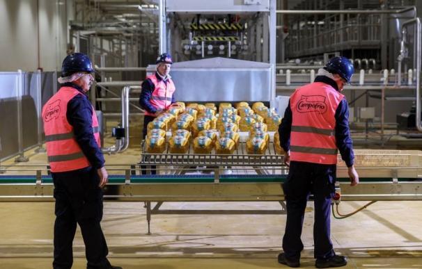 Operarios en la fábrica de Campofrío en Burgos. EFE