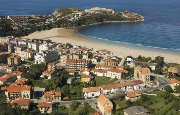 Vista aérea del municipio de Suances, en Cantabria.