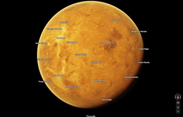 Fotografía de los planetas que se pueden ver en Google Maps.