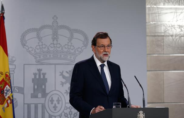 Mariano Rajoy en La Moncloa este miércoles.