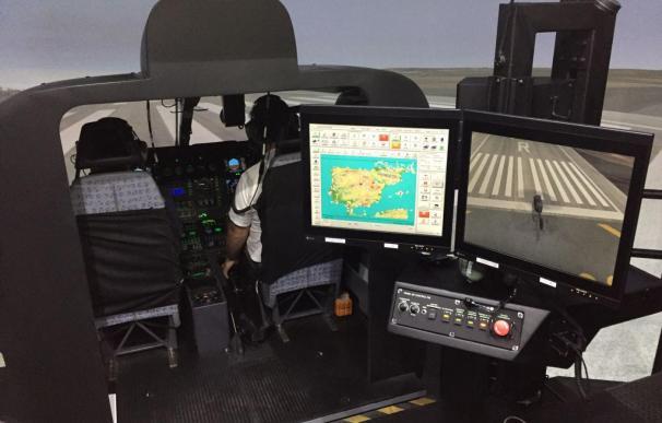 Imagen del simulador de helicóptero EC135