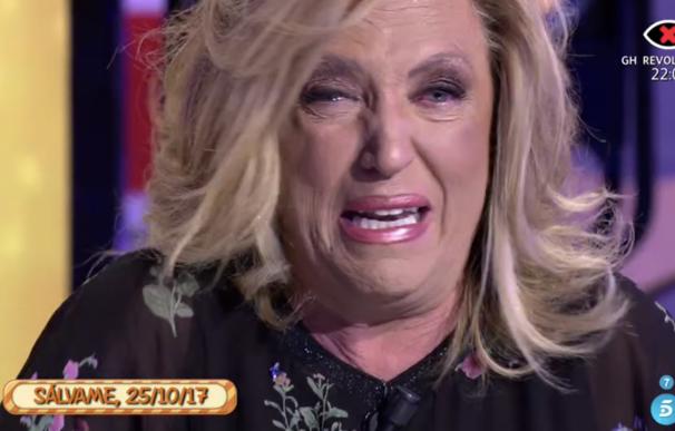 Lydia Lozano llora en Sálvame.