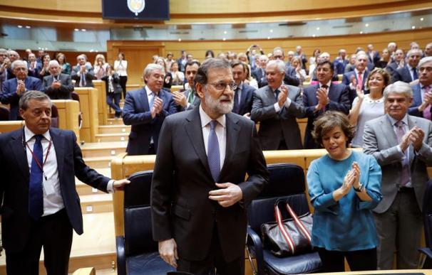 Rajoy, en el pleno del Senado que aprobará el artículo 155