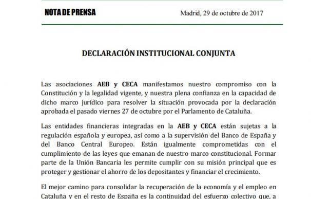 Declaración de la Banca