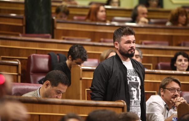 Rufián (ERC) duda de que si gana el sí' el PDeCAT no apoye la declaración de independencia