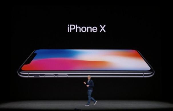 Fotografía del iPhone X de Apple.