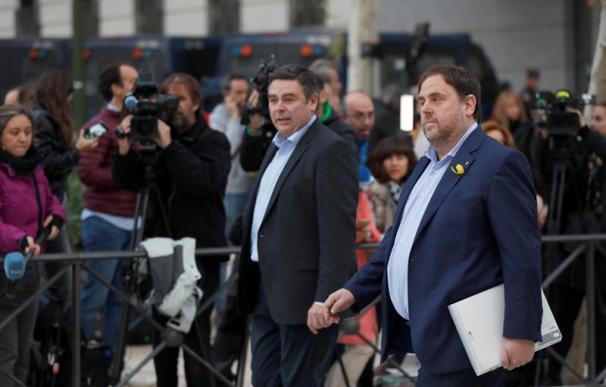 Fotografía de Oriol Junqueras a su llegada a la Audiencia Nacional