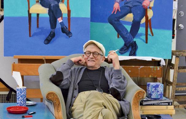 David Hockney en su estudio, Los Angeles, 1 de marzo de 2016