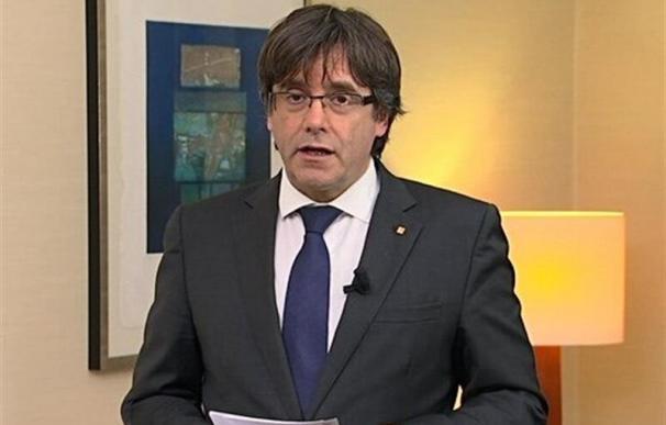 Fotografía facilitada por TV3 del mensaje de vídeo grabado en Bélgica por el expresidente de la Generalitat catalana Carles Puigdemont