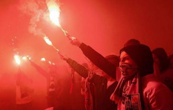 Los grupos ultras son comunes en el fútbol