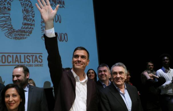 Pedro Sánchez y Manuel Escudero