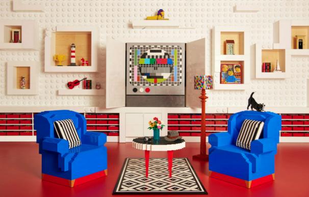 Fotografía de la casa de LEGO en Dinamarca.