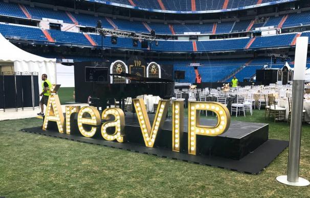 Cena de Área VIP en el Bernabéu.