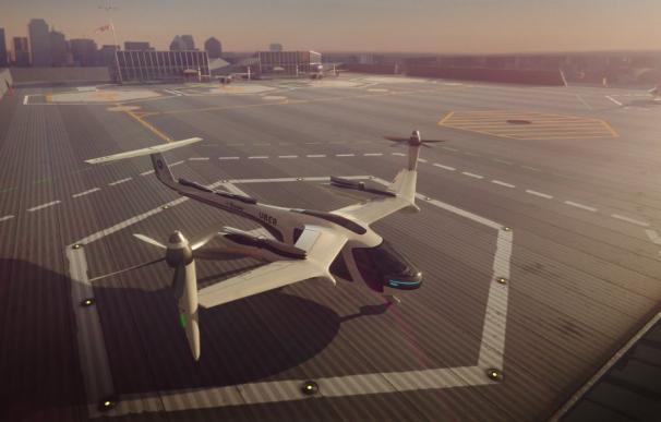 Uno de los modelos de taxi aéreo de Uber