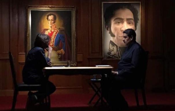 Jordi Évole y Nicolás Maduro durante la grabación de Salvados