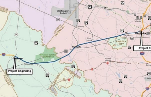 Proyecto de la autopista I-66 en Virginia