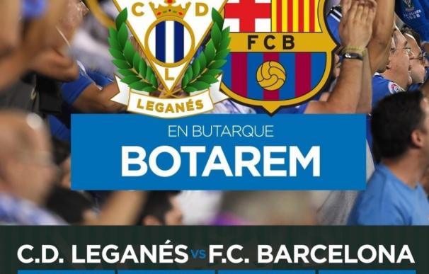 """""""En Butarque, botarem"""", así promociona el Leganés la visita del FC Barcelona"""