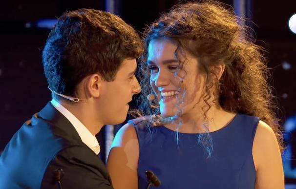 Amaia y Alfred, en la tercera gala de OT, interpretando La la land