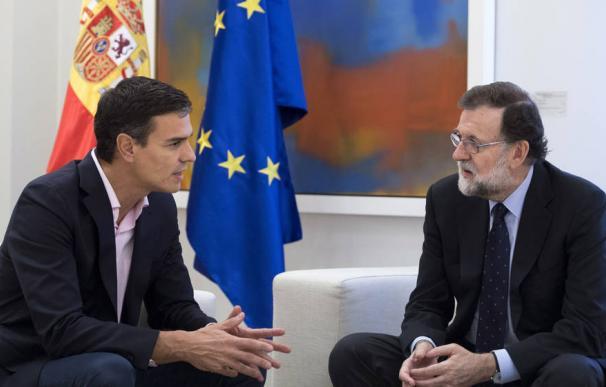 Rajoy y Sánchez en La Moncloa.