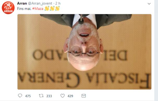 """Criticas a la organización soberanista Arran por decir """"Hasta nunca"""" a Maza"""