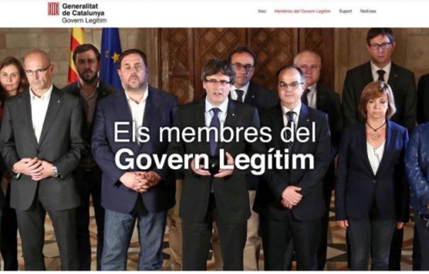 "Borran a Santi Vila de la foto del ""Govern legítimo"" pero se dejan una pierna"