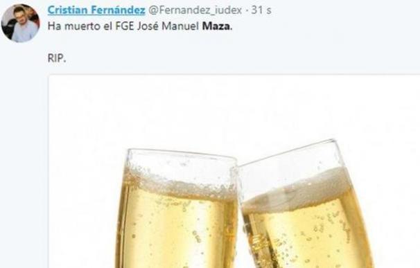 Podemos expulsará al dirigente que celebró en Twitter la muerte de Maza
