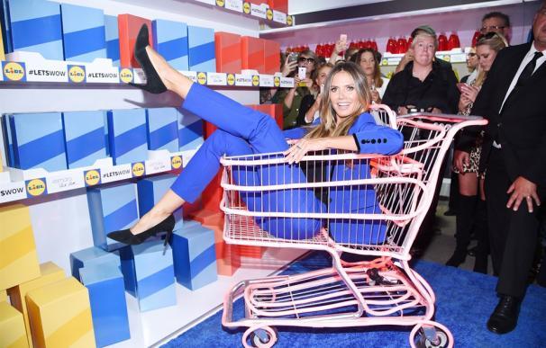 La alemana Heidi Klum, durante la campaña de promoción de Lidl.