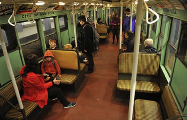 Fotografía de la línea secreto de metro de Nueva York.
