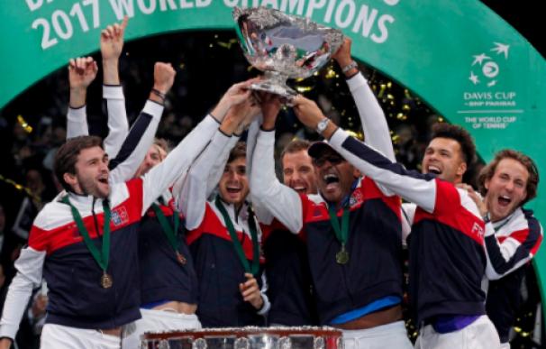 Pouille da a Francia su décima Copa Davis en un quinto punto sin emoción