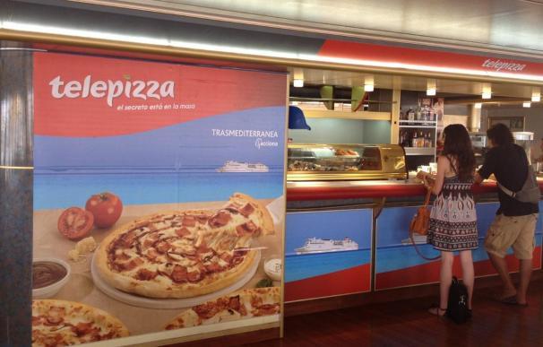 Telepizza se alía con Trasmediterránea para ofrecer sus productos en sus rutas a Baleares