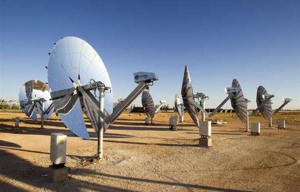 Parque de energía termosolar.